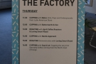Last year there was also a dedicated area called the Factory, with its own cuppings...