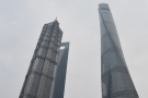 ... tallest buildings in Shanghai: Jin Mao (l) World Financial Center (c) Shanghai Tower (r).