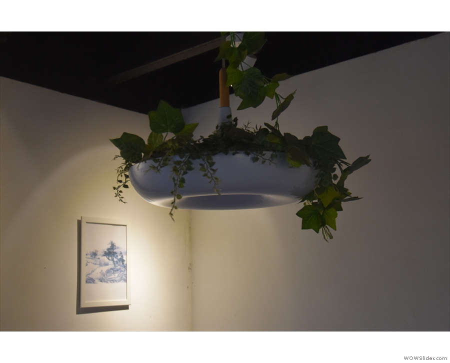 Meanwhile, the plants hanging from the ceiling were a nice touch.