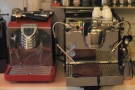 The Nuova Simonelli Oscar, I recognise, but the main machine, on the right, is new to me.