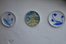 I liked the many decorations on the walls, including these hand-painted plates...