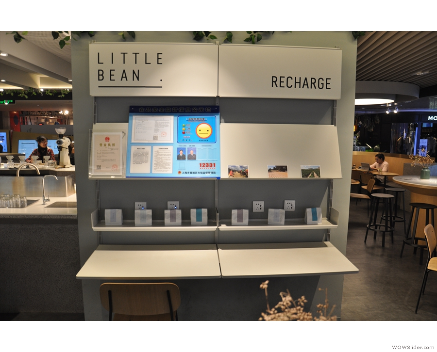 Little Bean has a lot of nice touches, including a charging station...