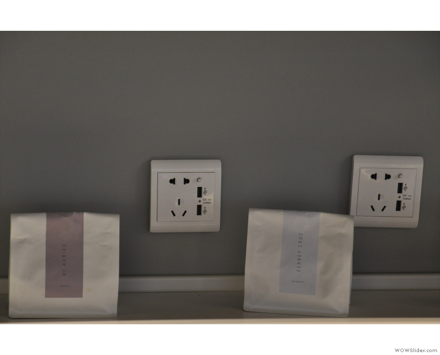 ... with various power outlets, including Chinese, US and European sockets, plus USB.