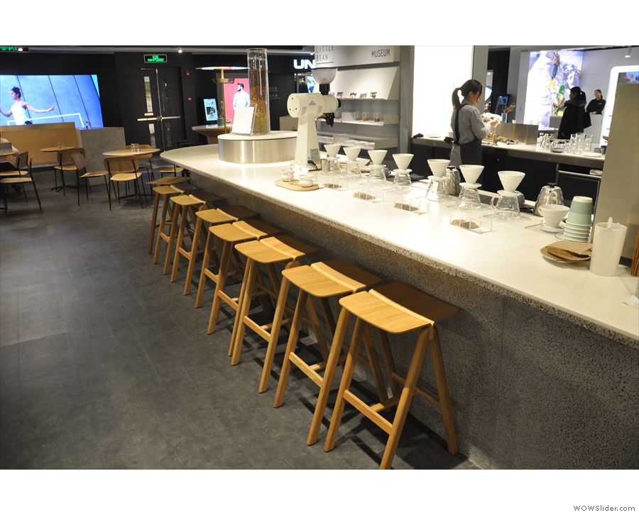 ... at the far end of the counter (in front of the row of V60s).