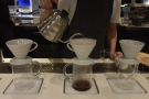 As before, water is slowly added to the V60 with a steady...