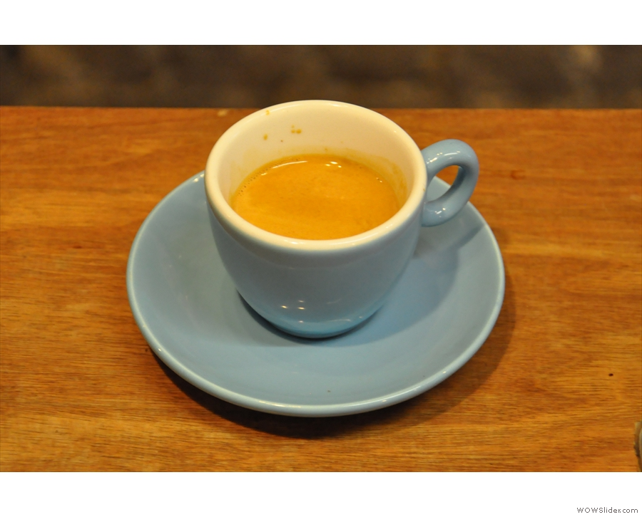And finally, the beautiful Yirgacheffe espresso that Gabriel fortunately talked me into trying!