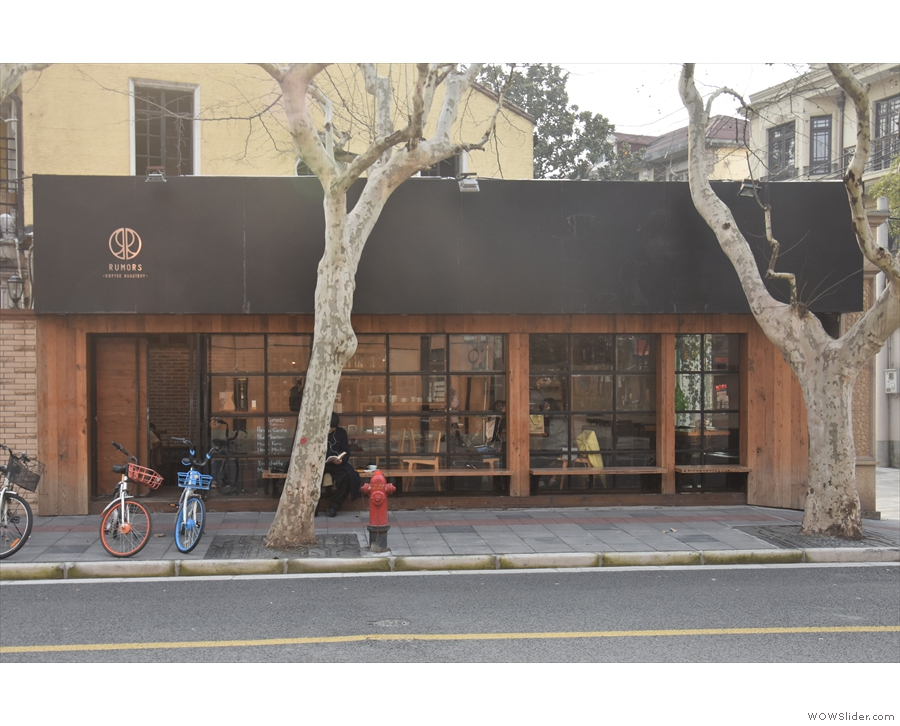 The second Rumors Coffee Roasters in the old French Concession, Shanghai.