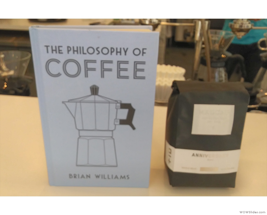 Before I left, I swapped a copy of my book for a bag of Madcap's 10th anniversary blend!