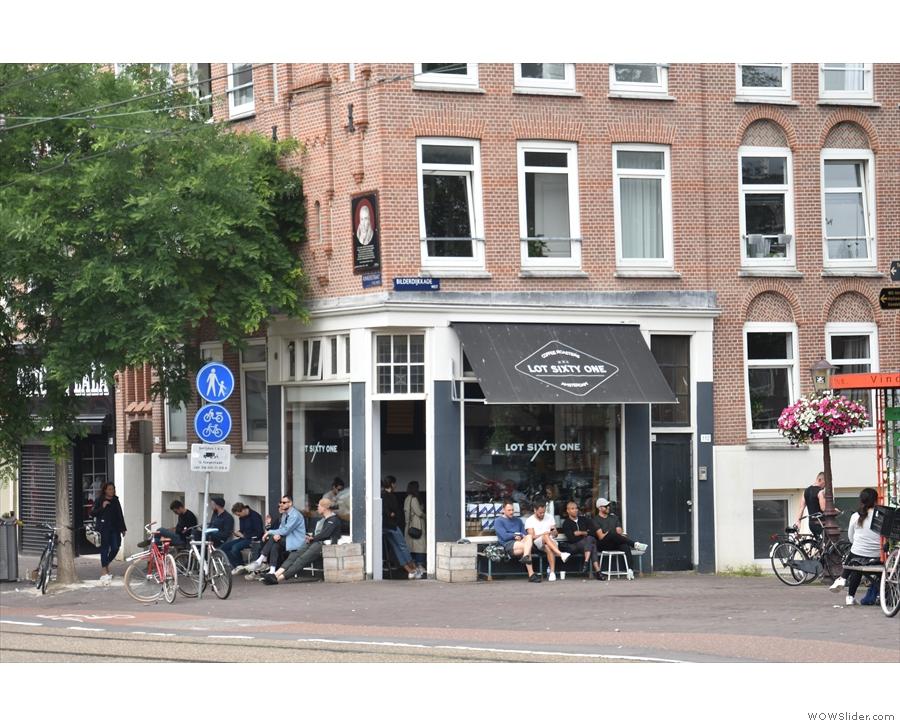 Lot Sixty One Coffee Roasters on Kinkerstraat, west Amsterdam.