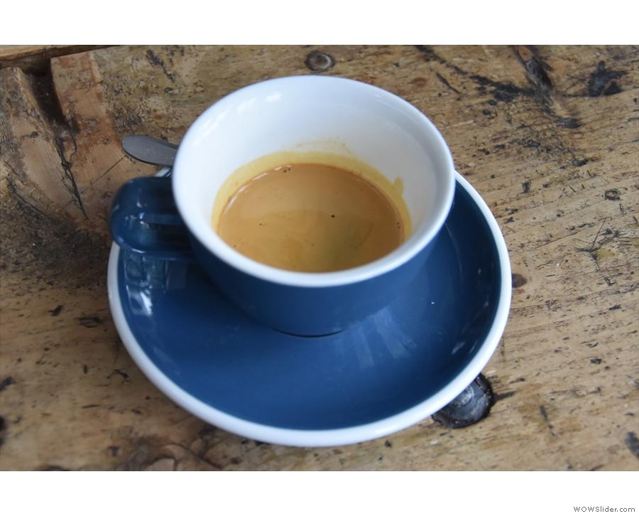 An espresso. Not mine, sadly.