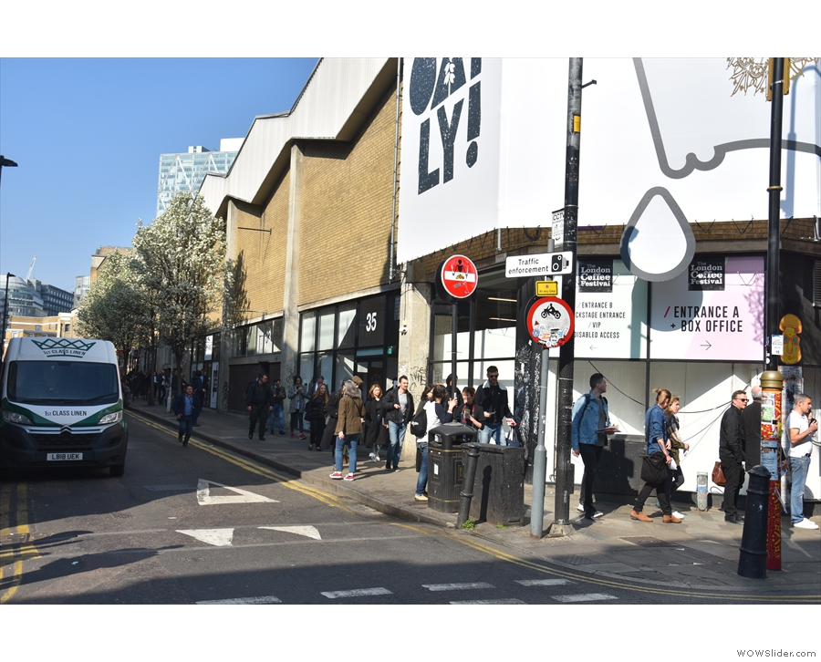 But why is everyone queuing here? And why are they coming from Hanbury Street?