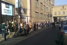 Interestingly, on the busier consumer day on Saturday, they queued the other way!