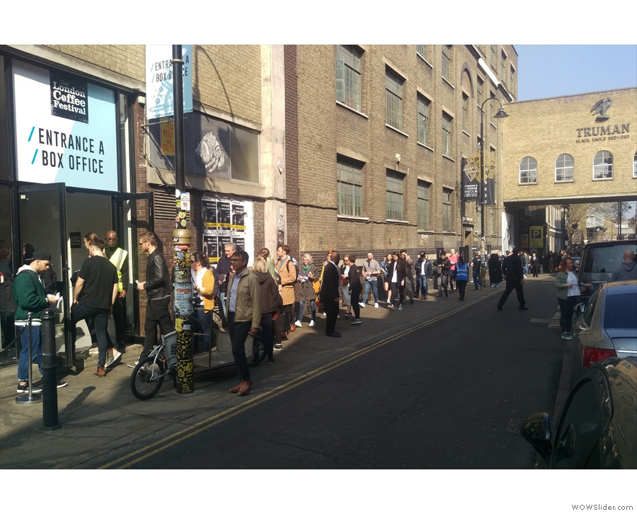 The new main entrance on Brick Lane, takes you, via a flight of stairs, to Level 1...