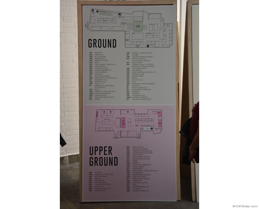 There's a floor plan of each of the levels: here's the Ground and Upper Ground...