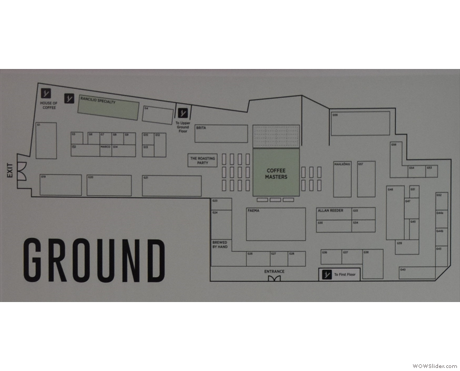 The Ground Level is centred around the Coffee Masters stage...