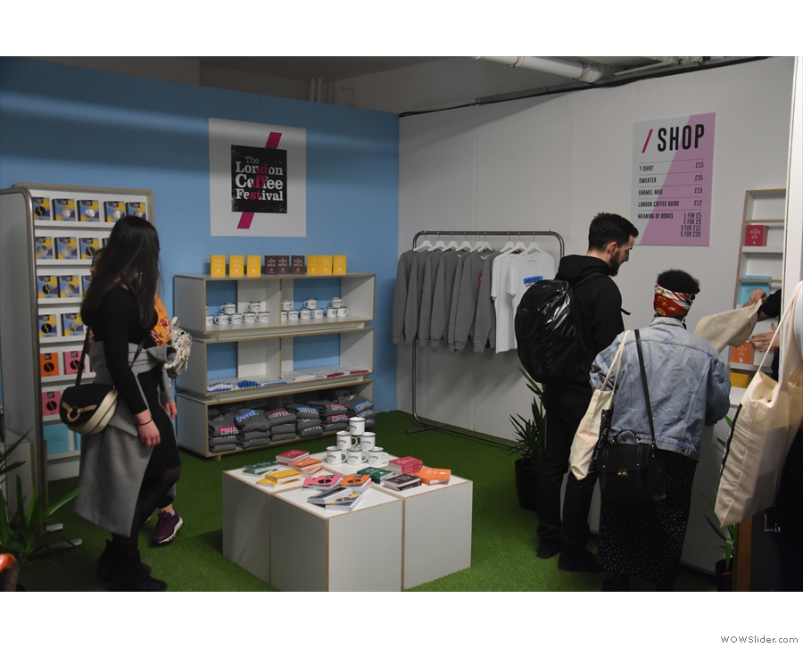 There are various stands down here, including merchandising and lifestyle stands.
