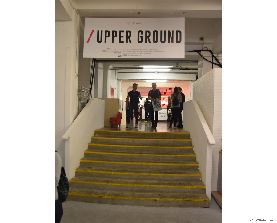 The Upper Ground Level gives access to the Ground Level via two flights of stairs...