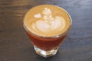 On my return on Saturday, I went one smaller with a cortado...