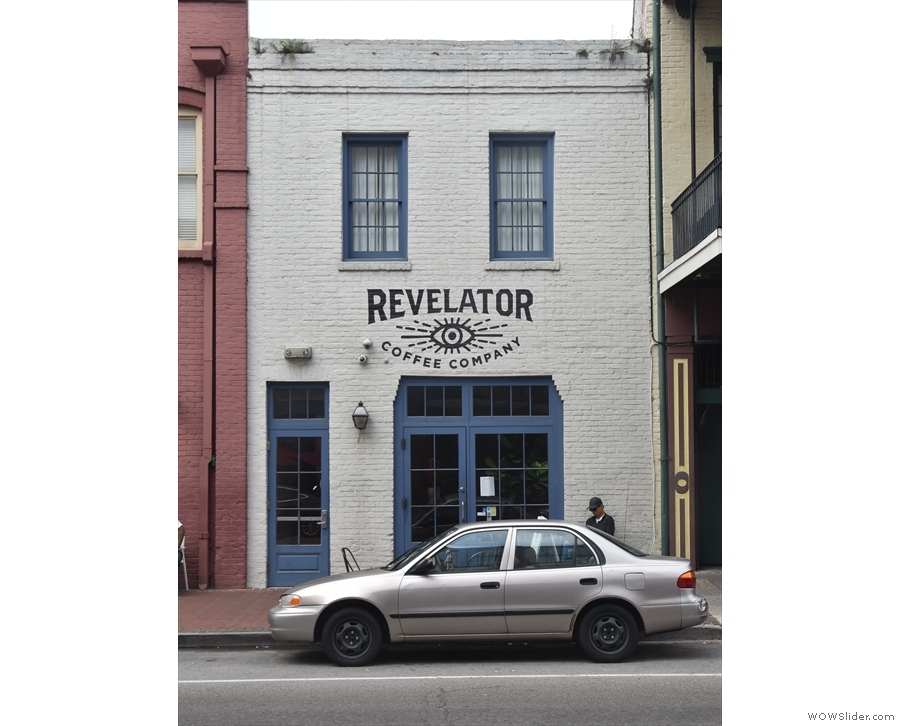 ... is Revelator Coffee. When I rule the world, parking in front of cafes will be banned!