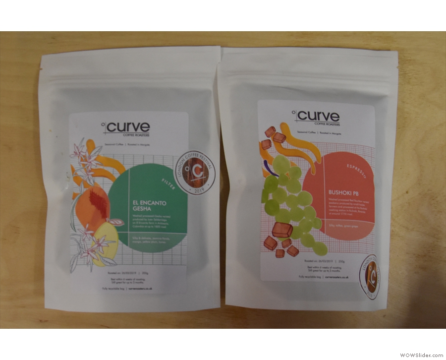 I also got to say hello to Curve, and admire its new packaging, which is pretty awesome!