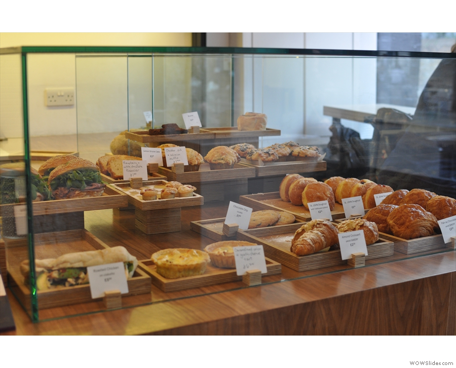 There's lots of sandwiches and cakes to choose from...