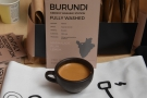 ... Burundi Kibingo, a really interesting, complex coffee that worked well as an espresso.