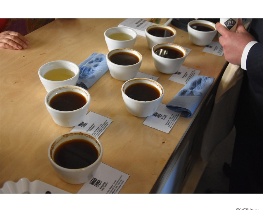 ... which was showing some of its coffees from China, Myanmar and the Philippines.