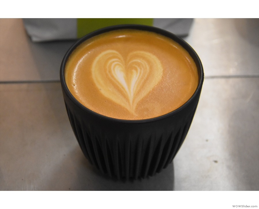 ... and a Santa Fe from Colombia which I had as a flat white in my HuskeeCup