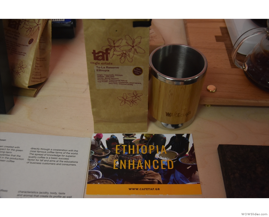 taf had another experimental processed coffee, this time from Ethiopia...