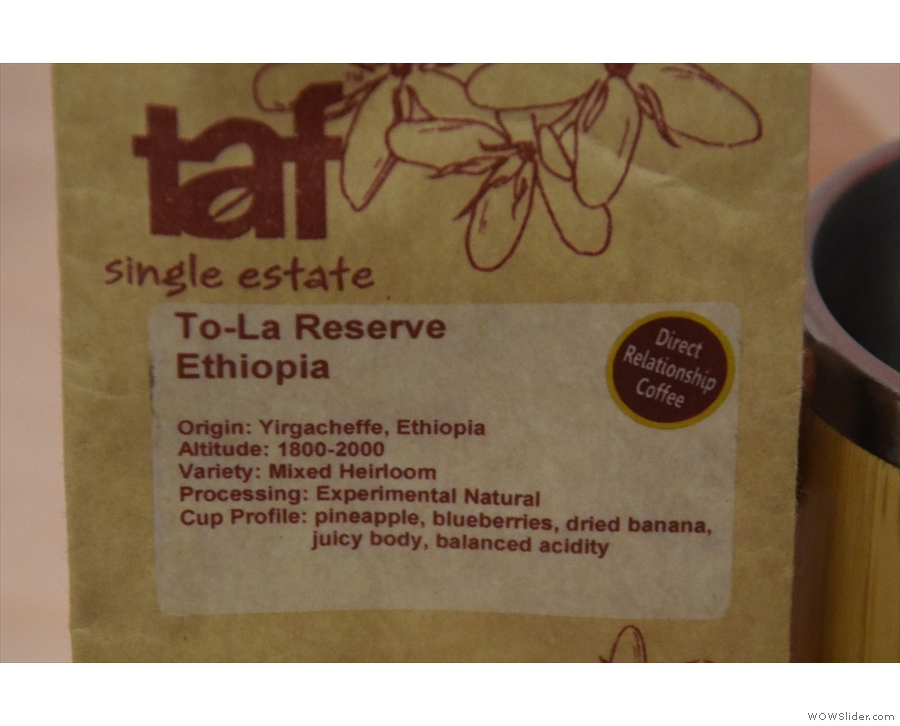 ... a mixed heirloom Yirgacheffe, with an experimental natural process.