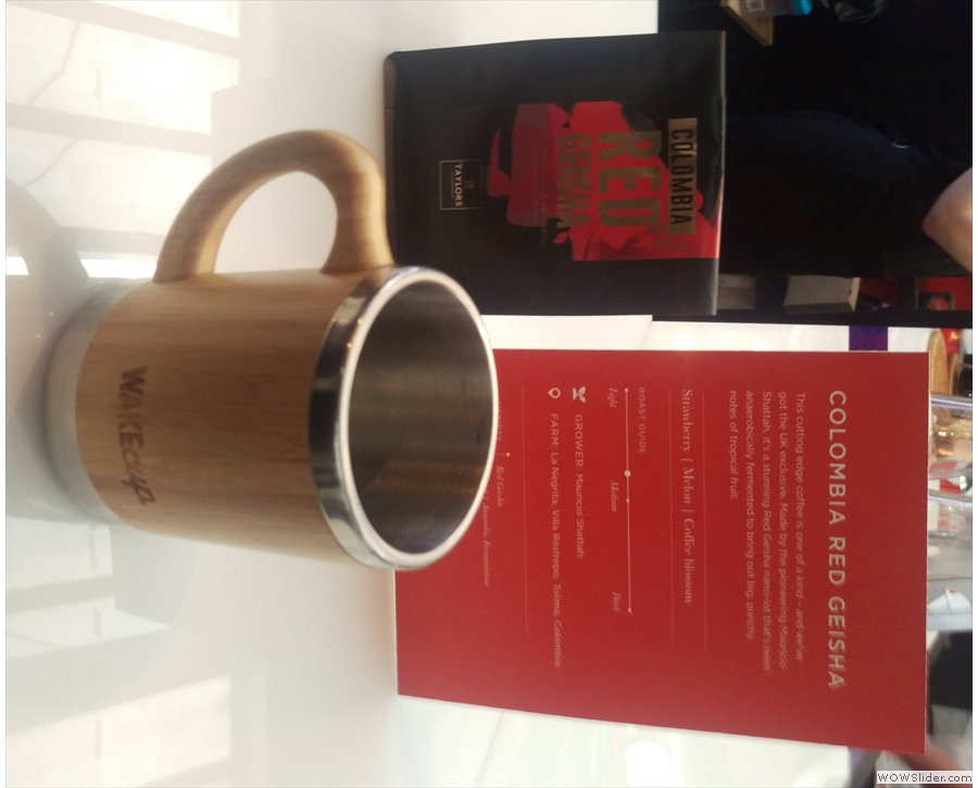 ... the amazing Colombia Red Geisha. One word: wow!