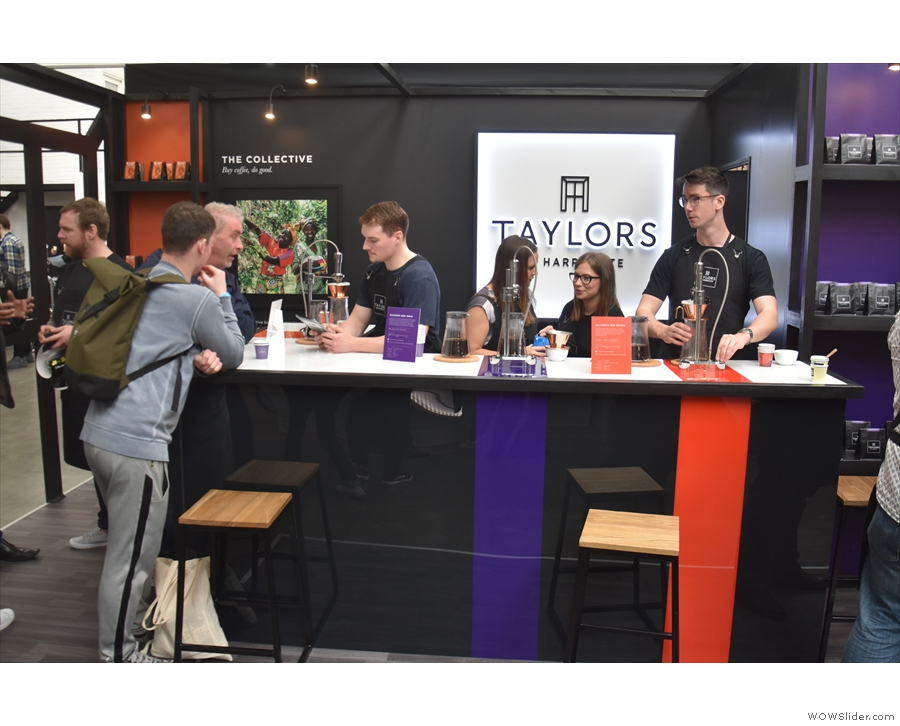 The Taylors of Harrogate stand, which I finally got to visit at the end of my second day.