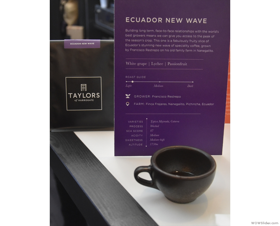 I started off with a sample of the Ecuador New Wave...