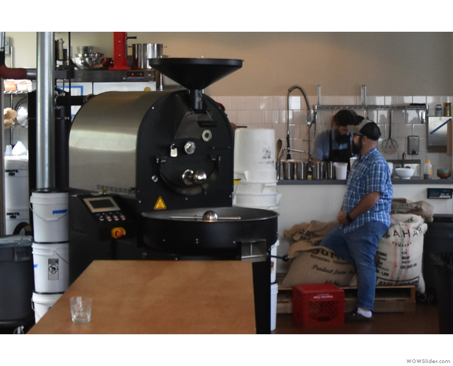 ... and the heart of the whole operation, the 12 kg Probat roaster.