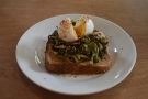 I followed that with lunch: pickled greens on toast, which was excellent.
