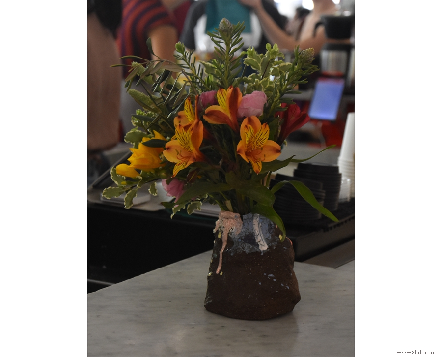 Meanwhile, I appreciated the flowers on the counter.