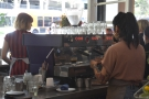 From my seat at the front of the counter, I had a good view of the espresso machine.