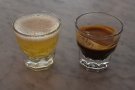 ... a shot of the featured espresso, the Andino Espéscial from Colombia...