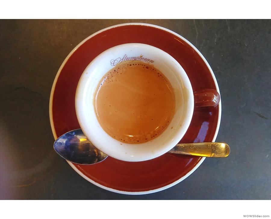 ... a single-origin Colombian which was the guest espresso and barista Rashidah's pick.