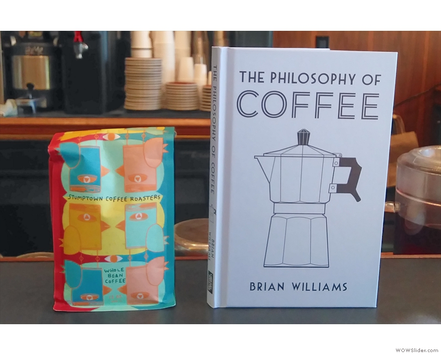 Before I left, I swapped my book, The Philosophy of Coffee, for Rashidah's coffee.