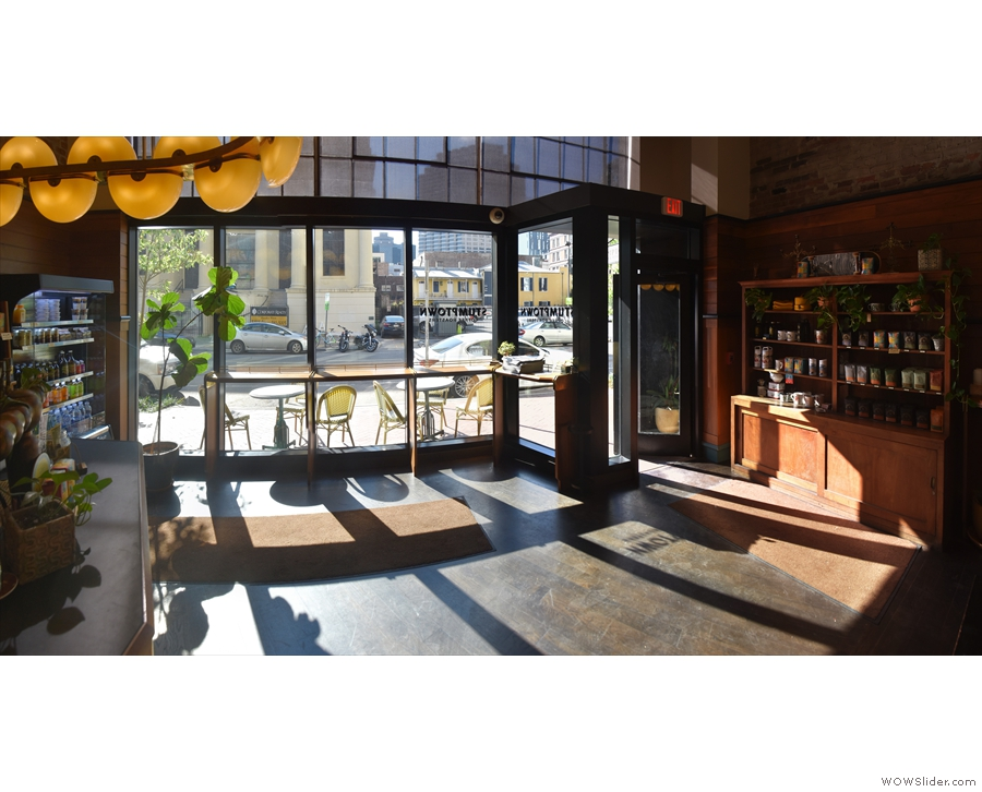 This leaves a large, open space at the front of Stumptown, which is wall-to-wall windows.