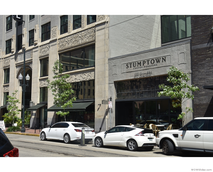 In case you haven't worked it out already, it's Stumptown Coffee Roasters!