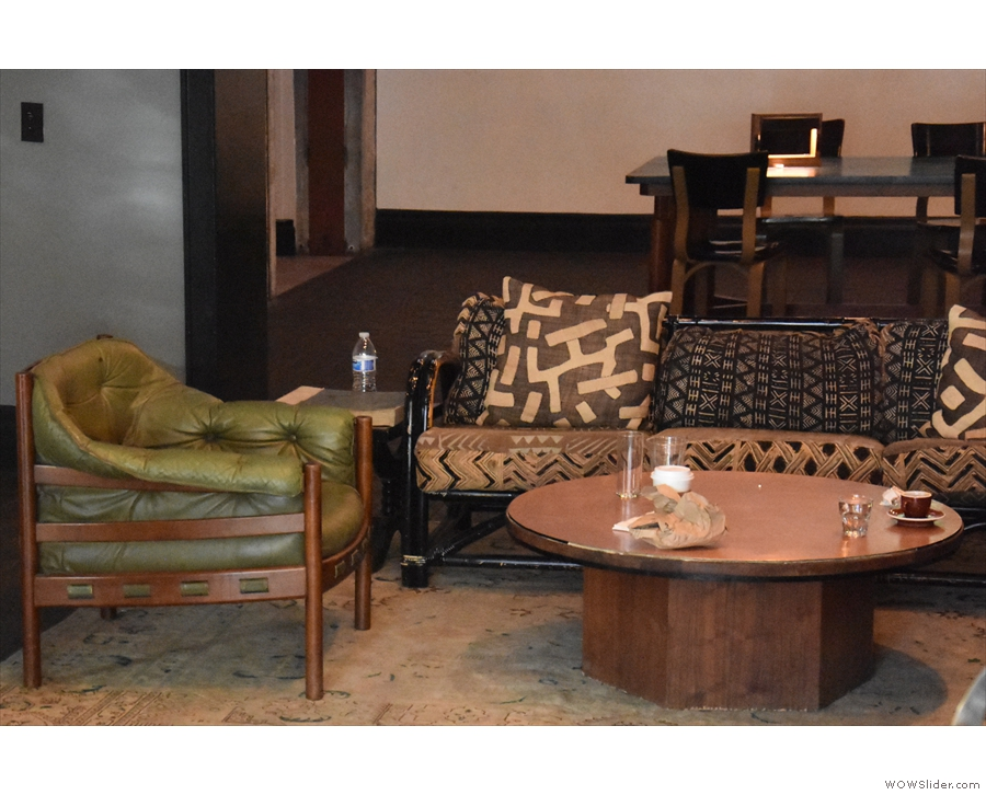 ... has another communal table, while the first one has a sofa and armchairs.