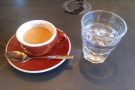 On my first visit, I only had time for a quck espresso, made with the El Jordan...