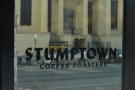 Stumptown itself is very well appointed. I liked the writing on the winwdows...