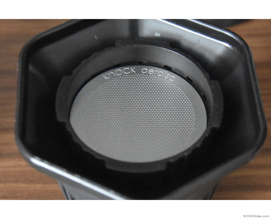 Knock's other new product is a reusable metal Aeropress filter, the aerdisc.