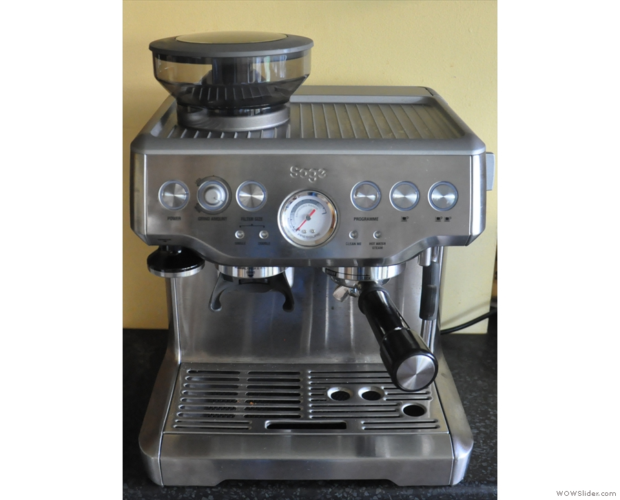 And for comparison, my Sage Barista Express, the most similar existing model.