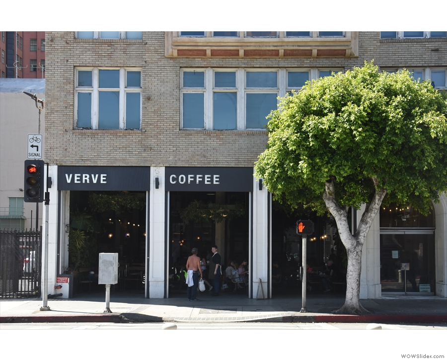 Verve occupies the left-hand three bays on the ground floor.