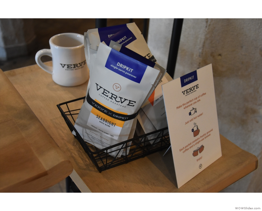 Verve also sells individual drip bags, something I previously saw in Japan.