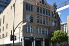 Verve Coffee Roasters, Spring Street, downtown Los Angeles, as seen from the south...